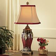 dramatic detail burgundy lamp