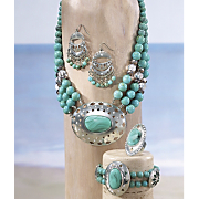 Faux Turquoise/Medallion Jewelry