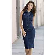 Stretch Denim Dress A