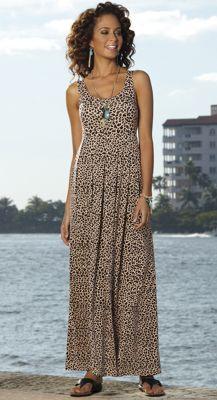 Shelf bra maxi dress