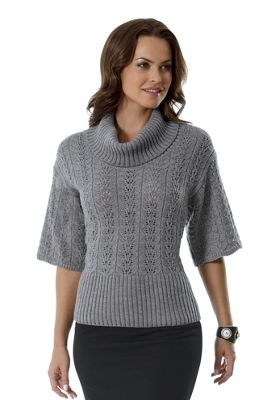 Pointelle, Elbow Sleeve Sweater