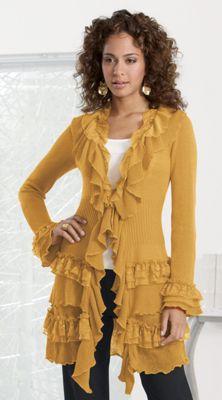 Indulgent Ruffles Sweater