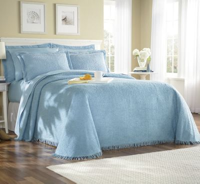 Ribbed Chenille Tranquility Bedspread & Sham