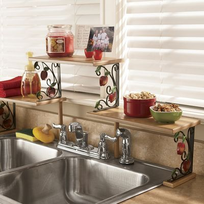 Apple over the sink shelf from seventh avenue 60694 - Over kitchen sink shelf ...