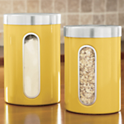 Set of 4 'Window' Canisters