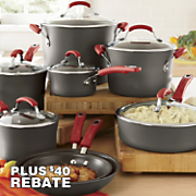 Rachael Ray Red 14-Piece Cookware Set