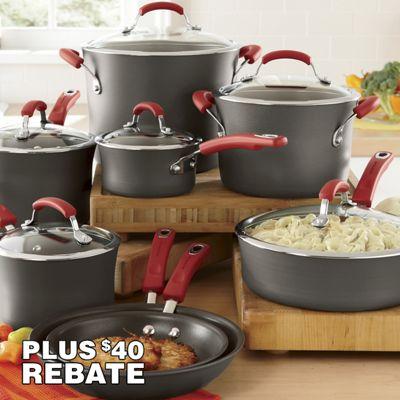 Rachael Ray Red 14-Piece Cookware Set