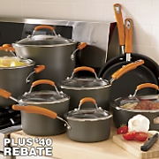 Rachael Ray Orange 14-Piece Cookware Set