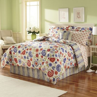 Megan Complete Bedding Pillow, Shams and Window Treatments