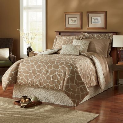 Africana Complete Bedding, Pillow, Shams and Window Treatments