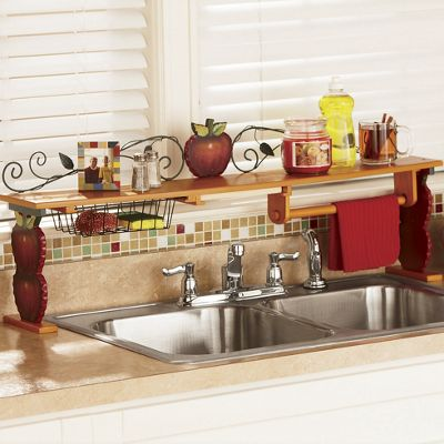 Scroll apple over the sink shelf from ginny 39 s 62361 - Over kitchen sink shelf ...