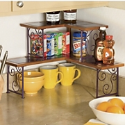 Colorblock 2-Tier Corner Shelf