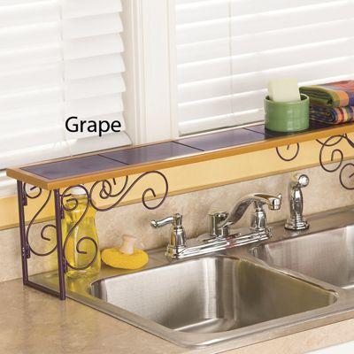 Beautiful Colorblock Over The Sink Shelf