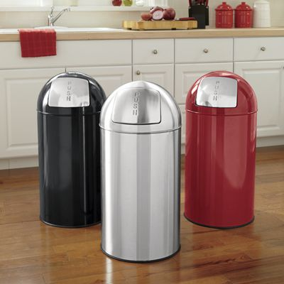 13-Gal. Stainless Steel Trash Can