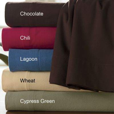 Ginny's Brand Microfiber Flannel Sheet Set