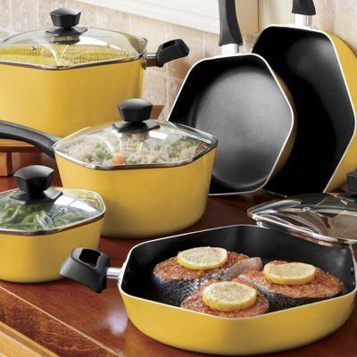 Ginny's Brand 10-Piece Hexagonal Cookware Set