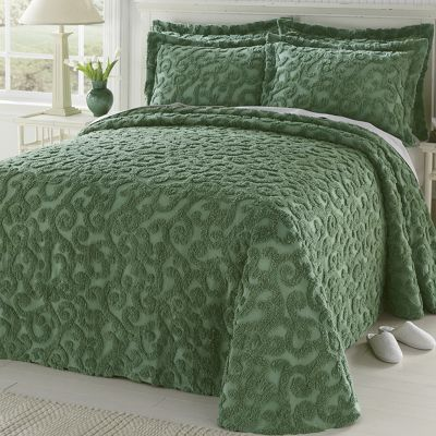 Ginny's Chenille Scrolled Bedspread and Sham