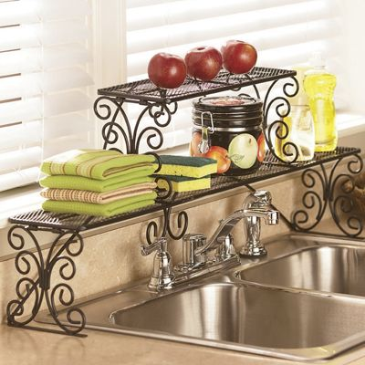 2 tier scrolled over the sink shelf from country door 64903 - Over kitchen sink shelf ...