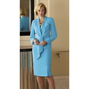 Tie Front Skirt Suit
