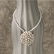 Faux Pearl Cluster Pendant