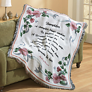 personalized daughter tapestry throw
