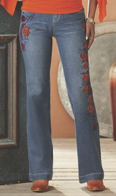 Feather Jean by Midnight Velvet Style