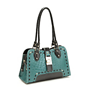 molly embossed leather bag by marc chantal
