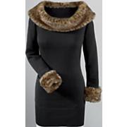 Amari Leopard trim Sweater