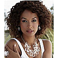 Briol/Acrylic Cluster Necklace & Earring Set