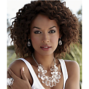 Necklace and Earring Set Briol Acrylic Cluster