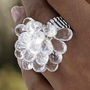Briol/Acrylic Cluster Ring