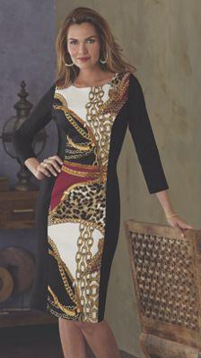 Juliana Ponte Knit Dress