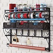 Wall Mount With Baskets Craft Storage Rack
