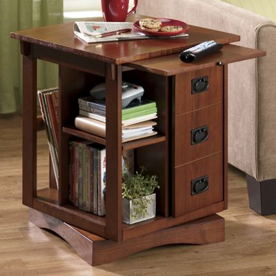 Finest Revolving End Table from Seventh Avenue | DW71180 CI92