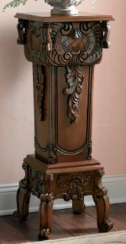 Hand-Carved Pedestal