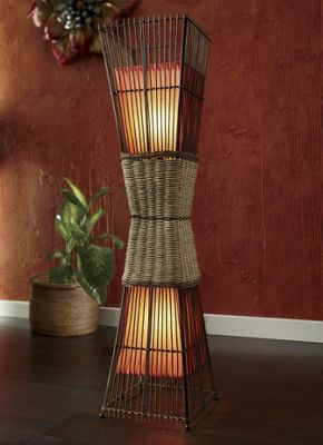 Palisade Cane Floor Lamp from Seventh Avenue | DI71692