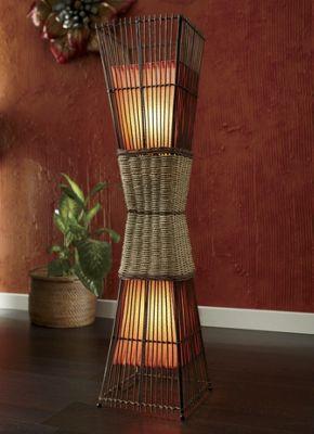 Palisade Cane Floor Lamp