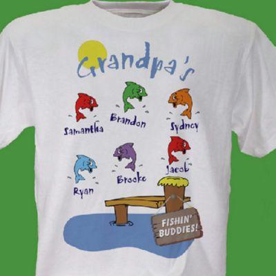 Grandpa's Fishing Buddies T-Shirt