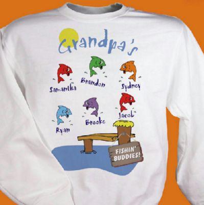 Grandpa's Fishing Buddies Sweatshirt