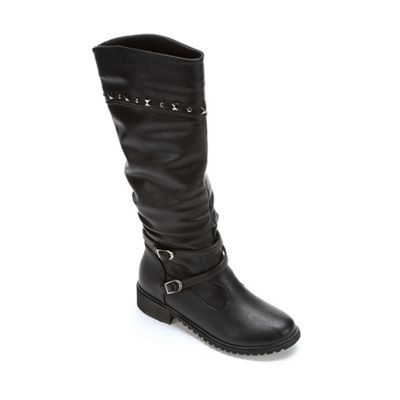 Stud-Trim Biker Boot