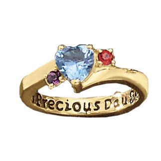 Daughter/Parent Birthstone Ring