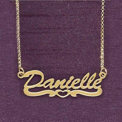 Name Open-Heart Script Necklace