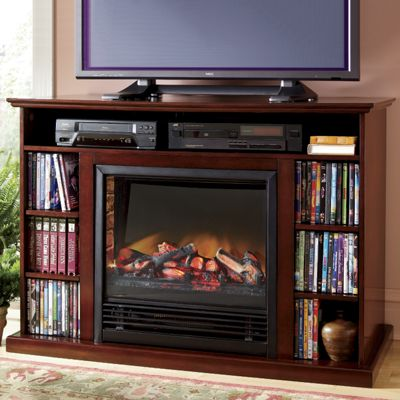 Media storage tv stand fireplace from seventh avenue dt73707 - Muebles de chimenea ...