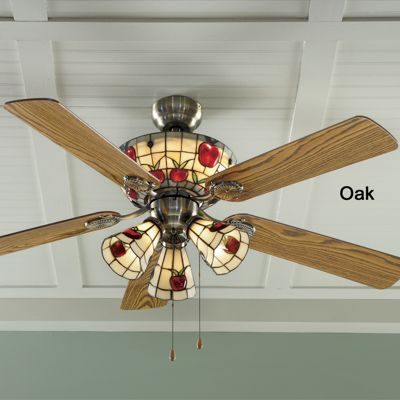 Stained glass apple ceiling fan from seventh avenue 74167 stained glass apple ceiling fan aloadofball Image collections