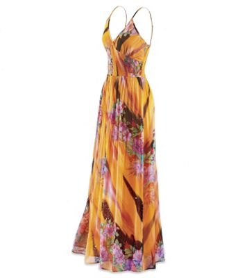 Hawaiian Sunset Maxi Dress