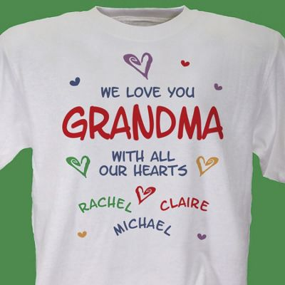 All Our Hearts Personalized Tee