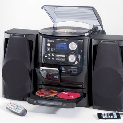 Encore Technology 3-CD Turntable Stereo