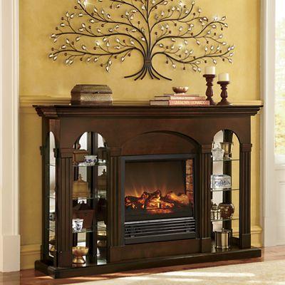 Double Curio Fireplace