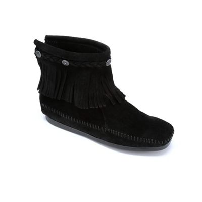 High Top Fringe Moccasin Boot by Minnetonka