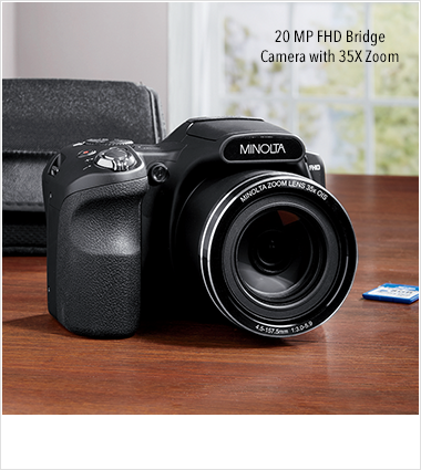 Capture the Moment!, featuring 20 MP FHD Bridge Camera with 35x zoom